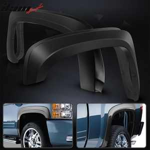 Ikon Motorsports Compatible with 07-13 Chevy Silverado 1500 Short Bed OE Style Trunk Fender Flares - PP