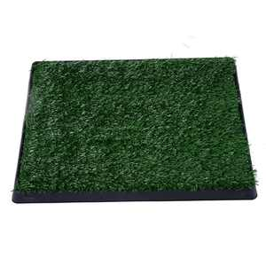 """PawHut 24"""" x 20"""" Portable Potty Training Dog Toilet Fake Grass For Dogs And Small Animals"""