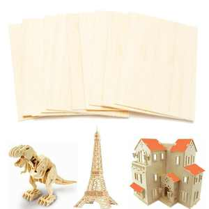 15 Pack Balsa Wood Sheets, Thin Wood Sheets DIY Wood Board for House Aircraft Ship Boat DIY Wooden Plate Model, for Arts and Crafts, School Projects 150x100x2mm