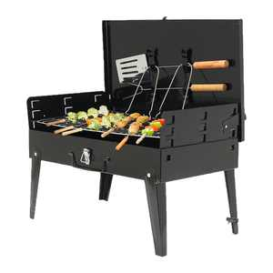 "18"" Foldable BBQ Grill,BBQ Charcoal Grill,Portable Barbecue Camping Picnic Grill Stove Outdoor,Barbecue Portable Folding Grill Barbecue Kits for Cooking Camping Hiking Picnic Garden Terrace Travel"