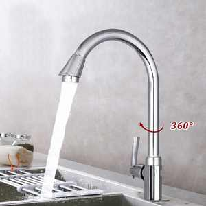 For !!  360 Rotating Faucet Spray Mixer Tap Stainless Steel High Arch Gooseneck Spout Single Handle Sink Kitchen Bathroom Bar Sink Faucet