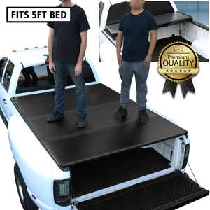 For 2016 to 2019 Toyota Tacoma 5 Ft Short Bed Hard Solid Tri -Fold Clamp -On Tonneau Cover 17 18