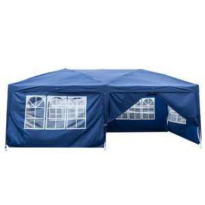 UBesGoo Ez Pop up Patio Canopy Tent Heavy Duty Gazebo Outdoor Party with 6 Sidewalls 10 x 20 ft Blue