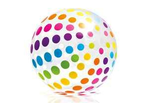 Intex Jumbo Inflatable Glossy Big Polka-Dot Colorful Giant Beach Ball | 59065EP