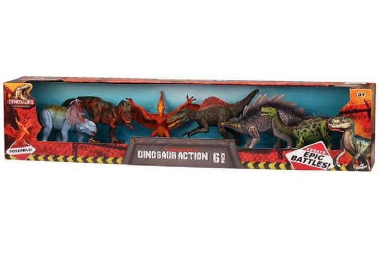 Kid Galaxy Poseable 9-inch Dinosaur Action 6-Pack