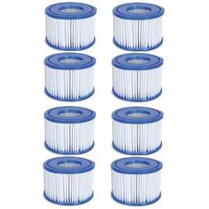 Coleman SaluSpa Swimming Pool Filter Pump Type VI Replacement Cartridge (8 Pack)