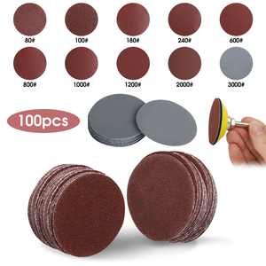 EEEkit 100pcs 2 Inches Sanding Discs Pad Kit for Drill Sander, Drill Sanding Attachment Sandpapers with 1pc 1/4 Shank Backing Pad and 1pc Soft Foam Buffering Pad