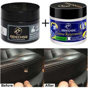 (2 Pcs Kit) Leather Seat Repair Filler Cream Restore Car Seat Sofa Scratch Rip Scuff Hole