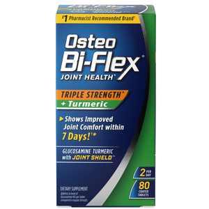 Osteo Bi-Flex Triple Strength Plus Turmeric, Glucosamine, Tablets, 80 Ct