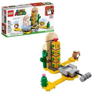 LEGO Super Mario Desert Pokey Expansion Set 71363 Collectible Building Toy for Kids (180 Pieces)