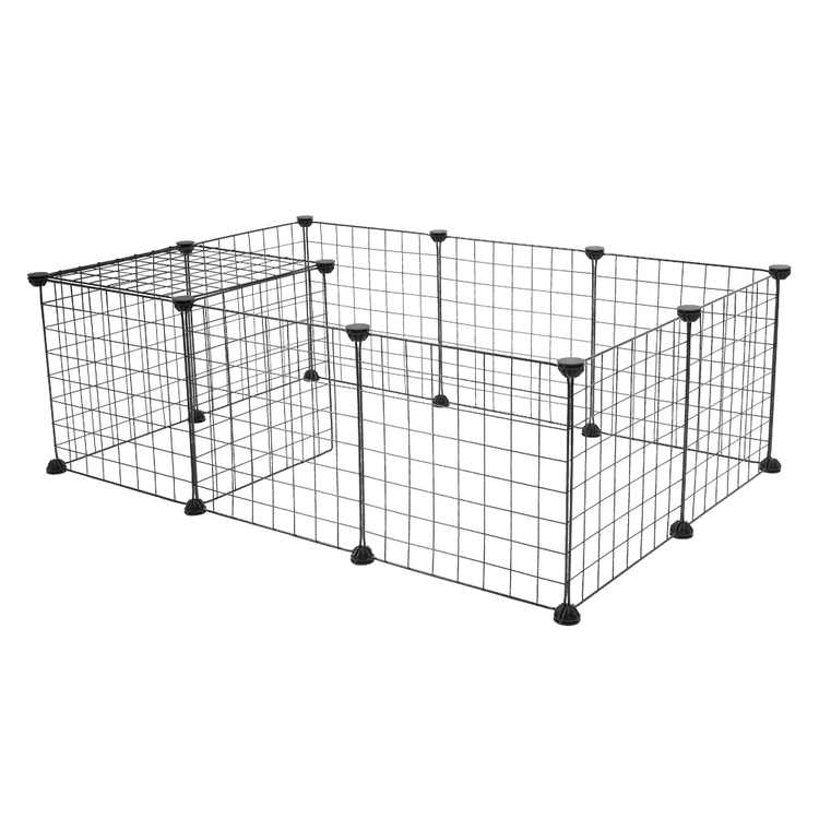 Gear Pet Playpen, Small Animal Cage Indoor Portable Metal Wire Yard Fence,  Kennel Crate Fence Tent