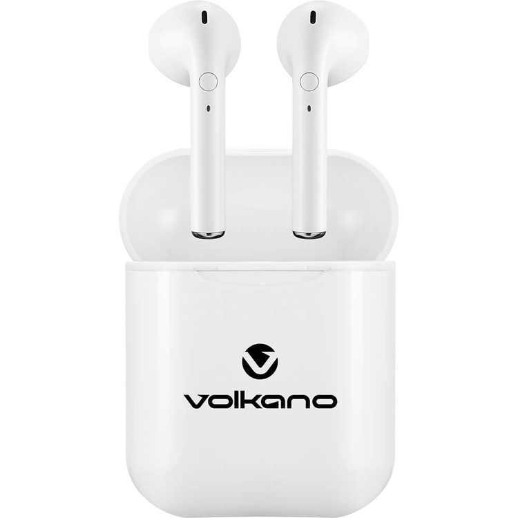 Volkano VK1127WHT True Wireless Bluetooth Headphones - White