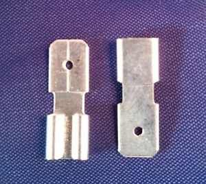 2 PCS of New UPGF1F2EBBNDL-SLA Lead-Acid Terminal Adapter F1 to F2 (.187-.250)
