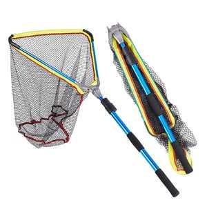 200cm / 79 Inch Telescopic Aluminum Fishing Landing Net Fish Net with Extending Telescoping Pole Handle