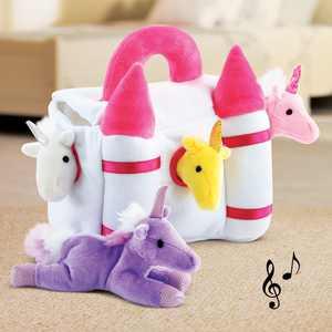 5 Piece Plush Unicorn Play Castle with Mystical Magical Sounds