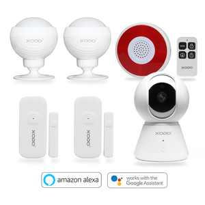 XODO Smart Home System 1080p Camera Kit, Wifi, Motion Sensor, Night Vision, Door Window Sensor App Controlled - PK1