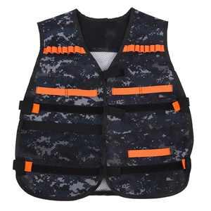 LAFGUR Thickened Toy Gun Clip Jacket Foam Bullet Holder Camouflage Kids Vest for Nerf, Gun Clip Vest, Vest for Nerf