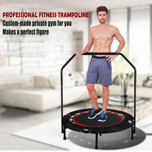 "LEANO Fitness Trampoline 40"" Mini Foldable Re-bounder Trampoline with Adjustable Handrail LEANO"
