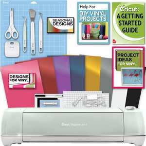Cricut Explore Air 2 Machine Bundle - Beginner Guide, Tool Kit, Vinyl Pack, Designs & Project Inspiration