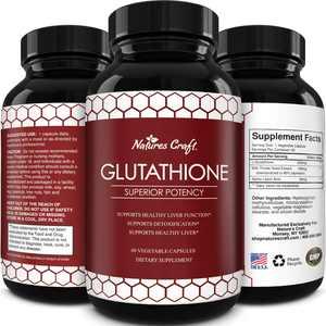 Pure Glutathione Supplement Natural Skin Whitening Pills Antioxidant Anti Aging 60ct