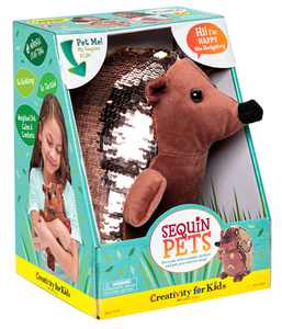 Creativity for Kids Sequin Pets: Happy the Hedgehog - Child Arts and Craft Kit for Boys and Girls