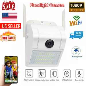 Floodlight Camera Wireless 1080p WiFi Security HD 1080P 160 View Home Outdoor
