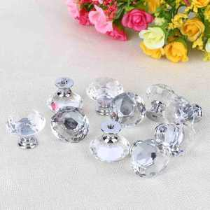 10Pcs Crystal Glass Cabinet Knobs Drawer Dresser Knobs Cupboard Handles Set, Cupboard Handle,Crystal Handle