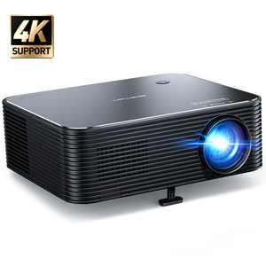 APEMAN Mini LC650 Projector, 1080P LCD Display and 300'' Large Screen Portable Video Projector