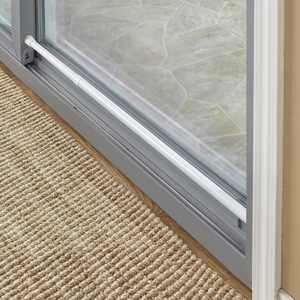 """Sliding Door Security Bar With Rubber Tips - White - 1"""" dia. x 26"""" to 48""""L"""