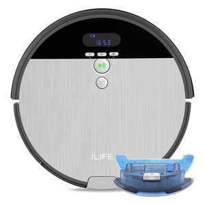ILIFE V8s Robot Vacuum and Mop 2 in 1, Route Planning, Tangle Free for Pet Hair, XL 750ml Dustbin