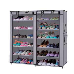 Ktaxon 36-Pairs Portable Boot Rack Double Row Shoe Rack Covered Nonwoven Fabric