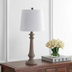 Safavieh Rhett Traditional Rustic 28 in. H Table Lamp, Antique Brown
