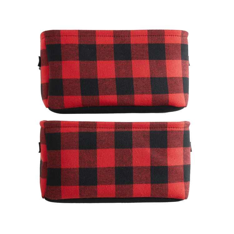 Mainstays Buffalo Plaid Fabric Storage Basket, Set of 2