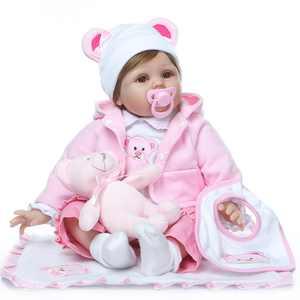 "Ktaxon 22"" Realike  Body Doll Silicone Doll Reborn Doll Lifelike Baby Girl Pink"