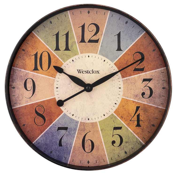 "Westclox Round Kaleidoscope 12"" Wall Clock"