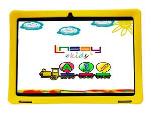 "Linsay F10IPKIDSY - Tablet - Android 10 - 32 GB - 10.1"" IPS (1280 x 800) - yellow"