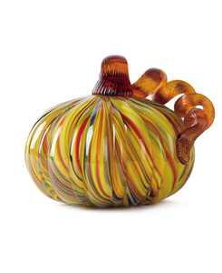 Striped Glass Short Pumpkin
