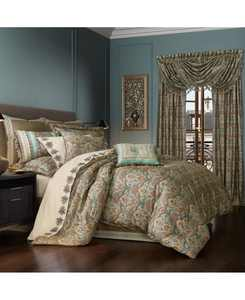 Victoria   Turquoise Turquoise Queen 4pc. Comforter Set