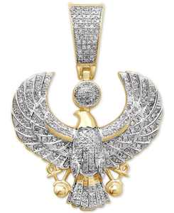 Men's Diamond Eagle Pendant (1/2 ct. t.w.) in 14k Gold-Plated Sterling Silver