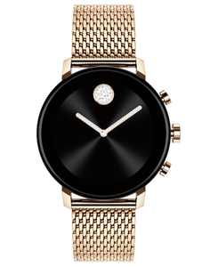 Connect 2.0 Pale Rose-Gold Stainless Steel Mesh Bracelet Touchscreen Smart Watch 40mm