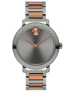 Women's Evolution Swiss Bold Two-Tone Ion-Plated Stainless Steel Bracelet Watch 38mm, First at Macy's