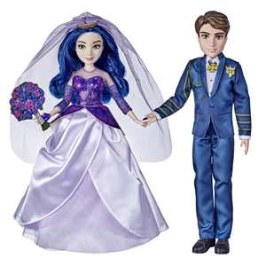 Disney Descendants The Royal Wedding Mal and Ben Fashion Dolls, Ages 6 and Up