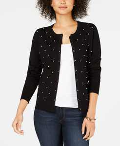 Pearl Embellished Button-Down Cardigan, Created for Macy's