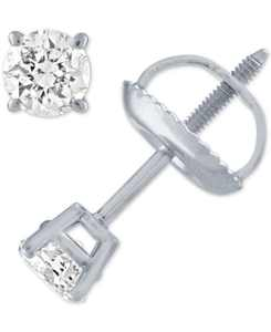 Diamond Stud Earrings (1/3 ct. t.w.) in 14k White Gold or Yellow Gold