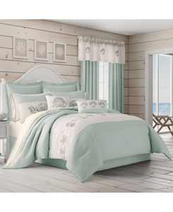 Water's Edge Aqua Queen 4pc. Comforter Set