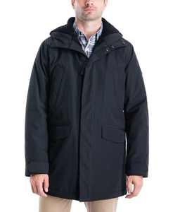 Men's Big & Tall Otto Hooded Stadium Parka with Faux Sherpa Lining