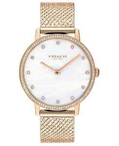 Women's Audrey Carnation Gold-Tone Stainless Steel Mesh Bracelet Watch 35mm