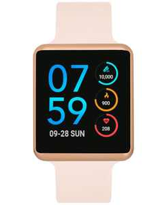 Women's Air Blush Silicone Strap Touchscreen Smart Watch 35x41mm - A Special Edition