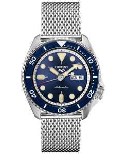 Men's Automatic 5 Sports Stainless Steel Mesh Bracelet Watch 42.5mm