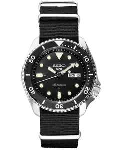LIMITED EDITION Men's Automatic 5 Sports Black Nylon Strap Watch 42.5mm, Created for Macy's